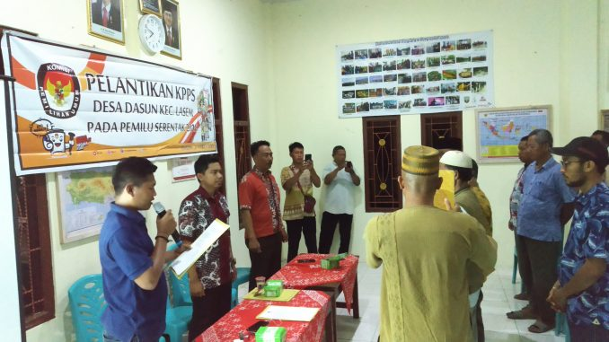 Pelantikan KPPS di Desa Dasun Berlangsung Khidmat