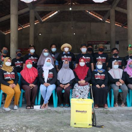 Relawan Desa Lawan Covid-19 Desa Dasun Terus Sosialisasikan Prokes Pencegahan Covid-19